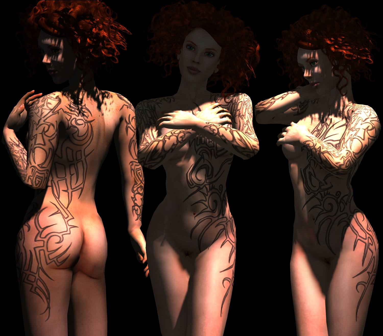 Tribal Body Tattoo For Women